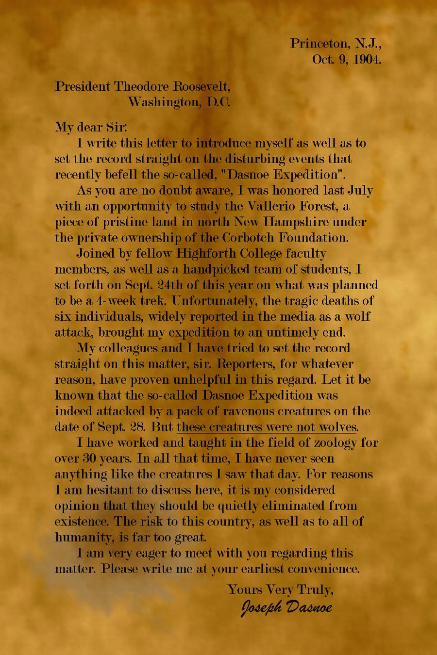 The Dasnoe Letter